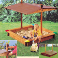 GASPO 310016 - Holz Sandkasten Mickey Sandkasten mit Dach