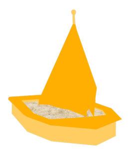 Ein Hauch von Sandkasten mit Dach - das Sandkastenschiff