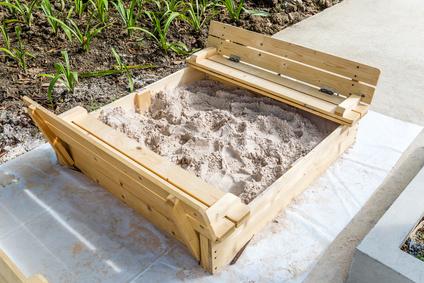 Sandbox auf Terrasse