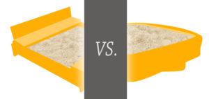 Holz-oder Kunststoff-Sandkasten?
