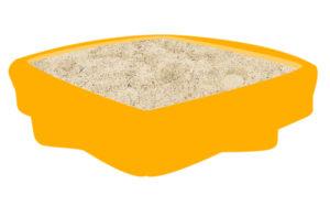 Sandkasten aus Kunststoff